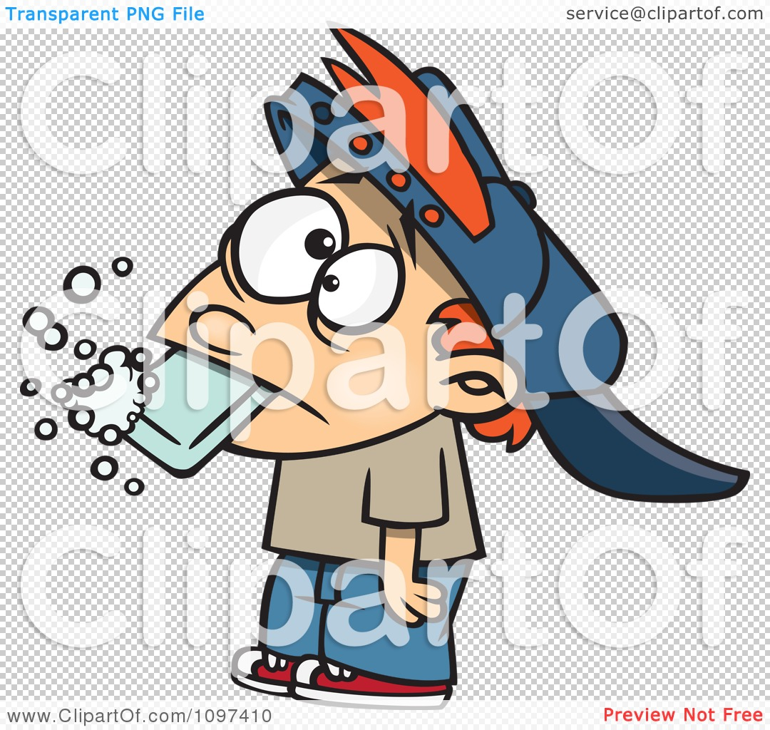 Clipart Bad Boy Getting His Dirty Mouth Washed Out With Soap After.