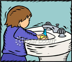 Wash Up Clipart.