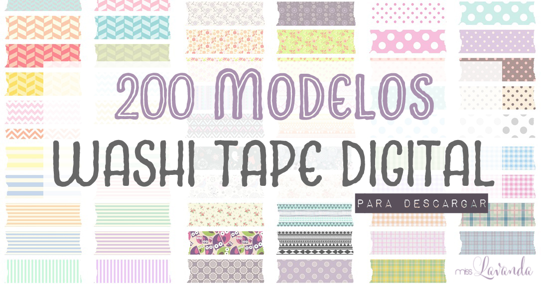 200 kinds of Washi Tape Digital (Free Download) by.