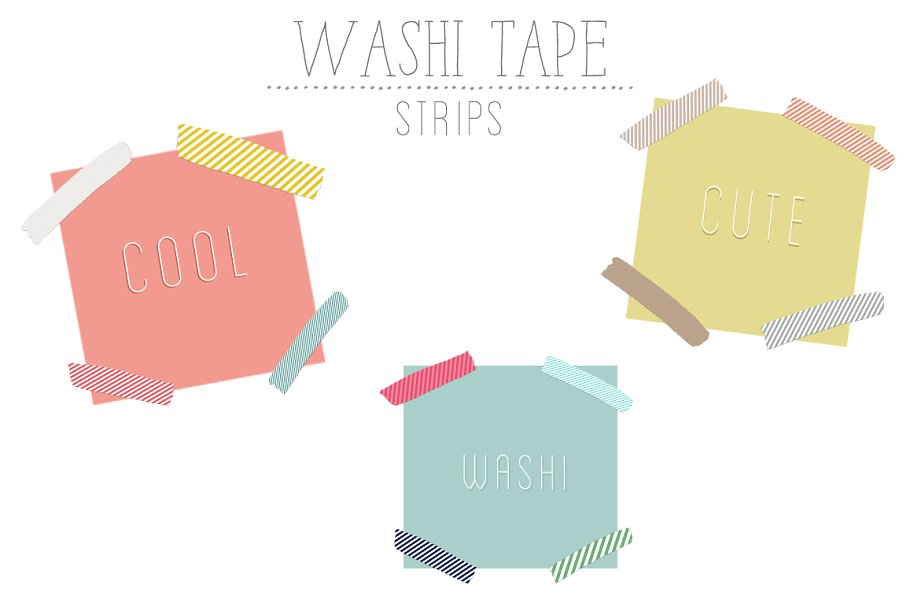 Washi Tape Strips.