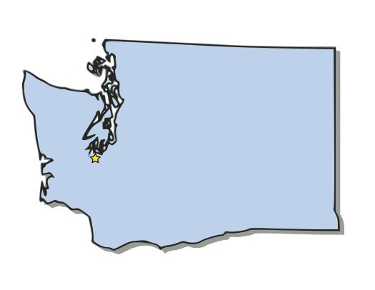 Washington Map Clipart#2082178.