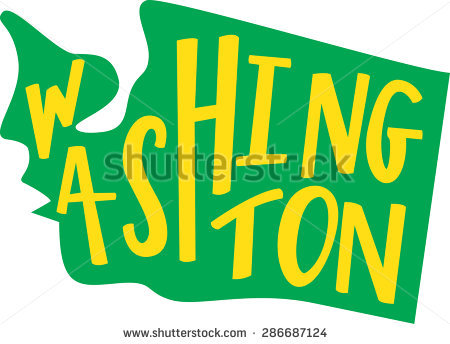 Washington State Outline Handlettering Stock Vector 286687124.