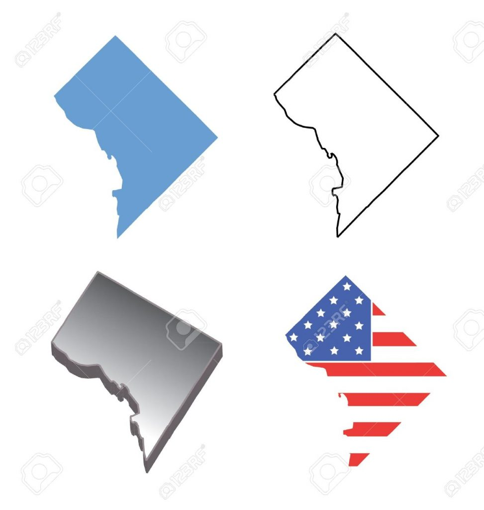 Outline Map Of Washington Dc With Washington Clipart ~ Free.