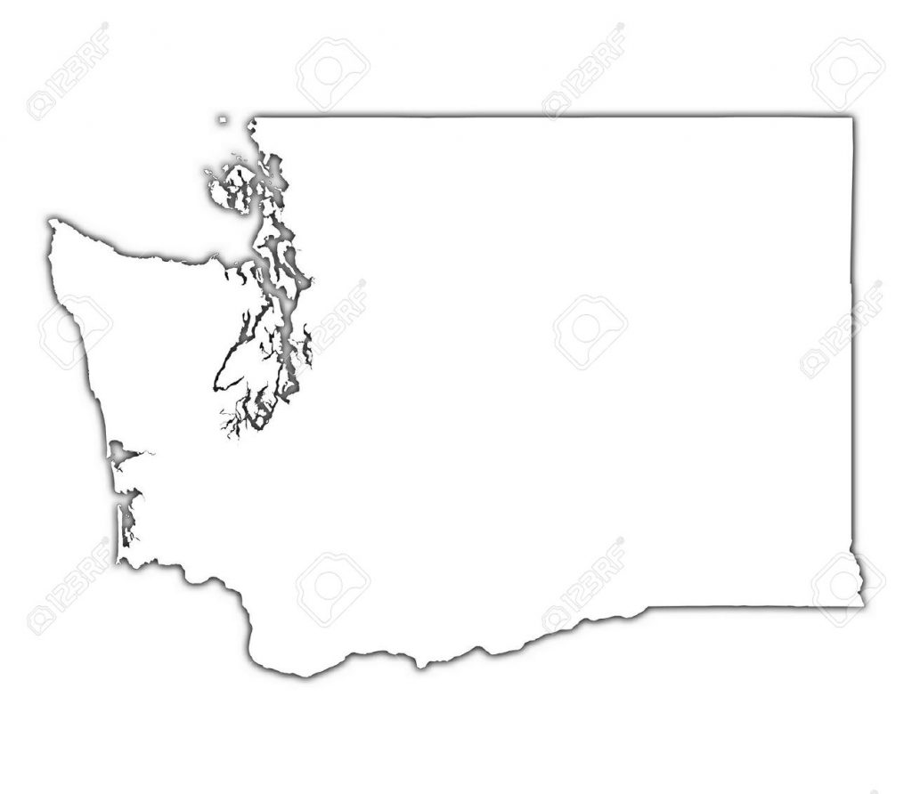 Outline Map Of Washington State With Washington Clipart ~ Free.