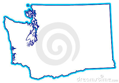 State Of Washington Outline Royalty Free Stock Photo.