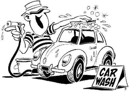 Car in car wash clipart.