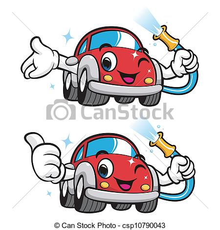 washing car clipart black and white #8