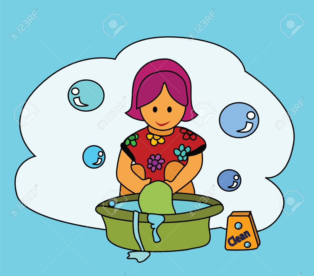 Washing clothes by hand clipart 11 » Clipart Station.