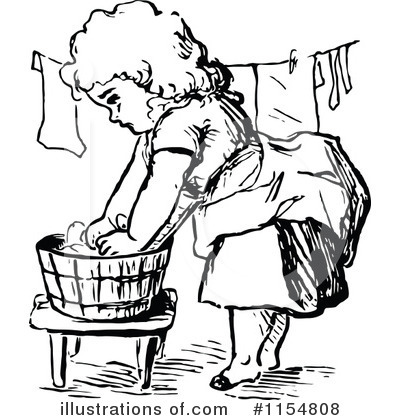 Washing clothes clipart black and white 4 » Clipart Station.