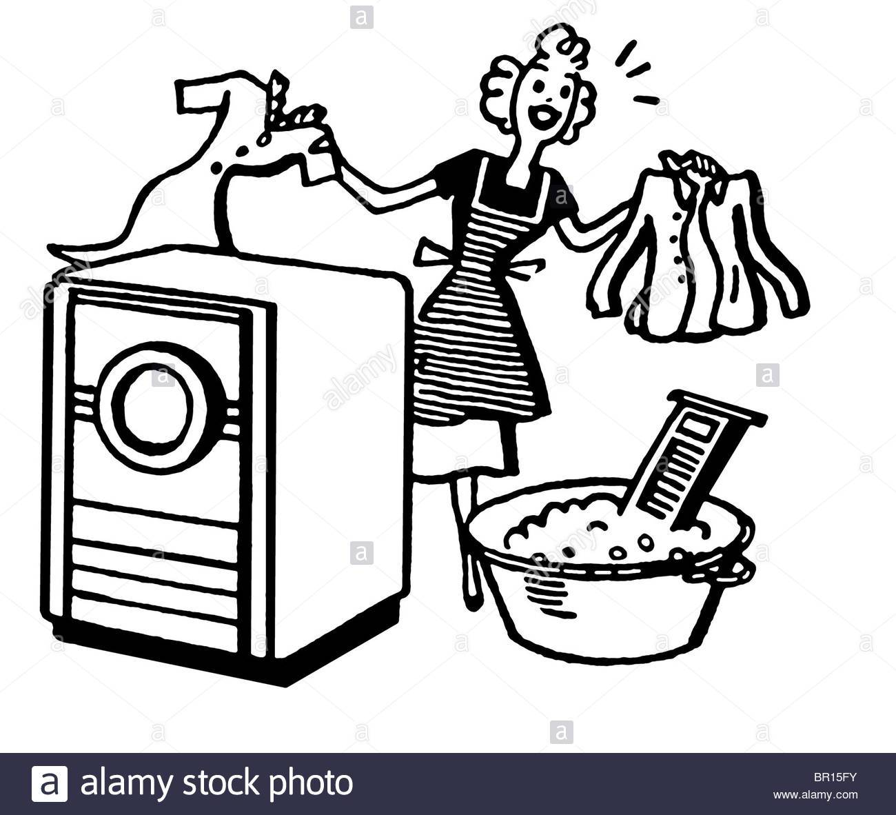 Washing clothes clipart black and white 6 » Clipart Portal.