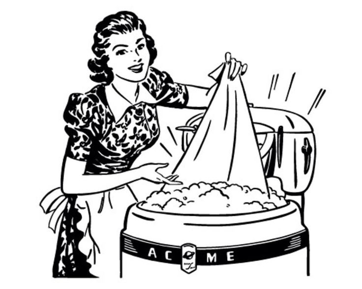 Laundry Clipart Black And White.