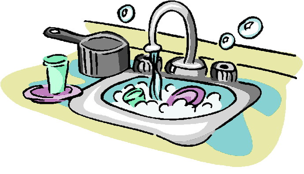 Washing Dishes Clipart Free.
