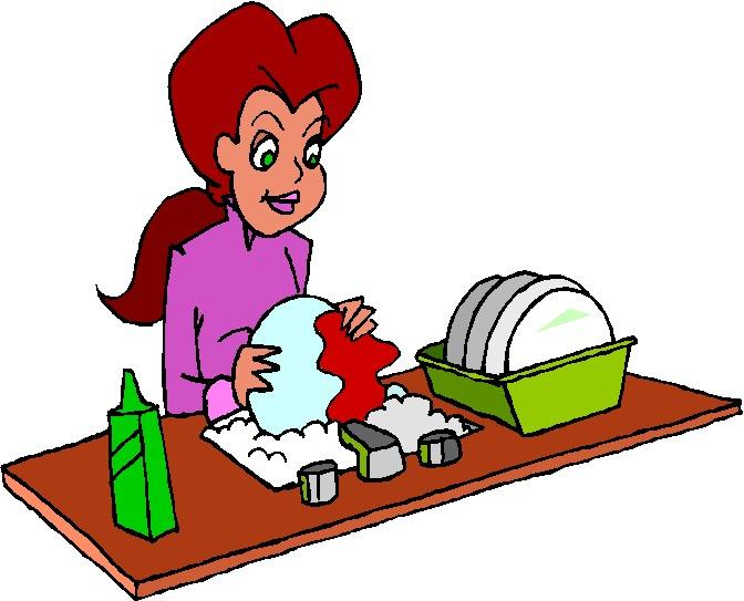 Washing Dishes Clip Art N5 free image.