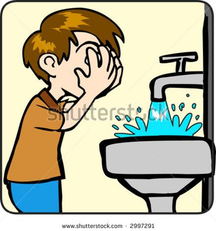 Washing Face Clip Art.