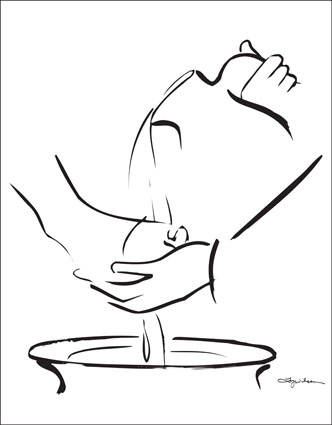 Clipart foot washing.