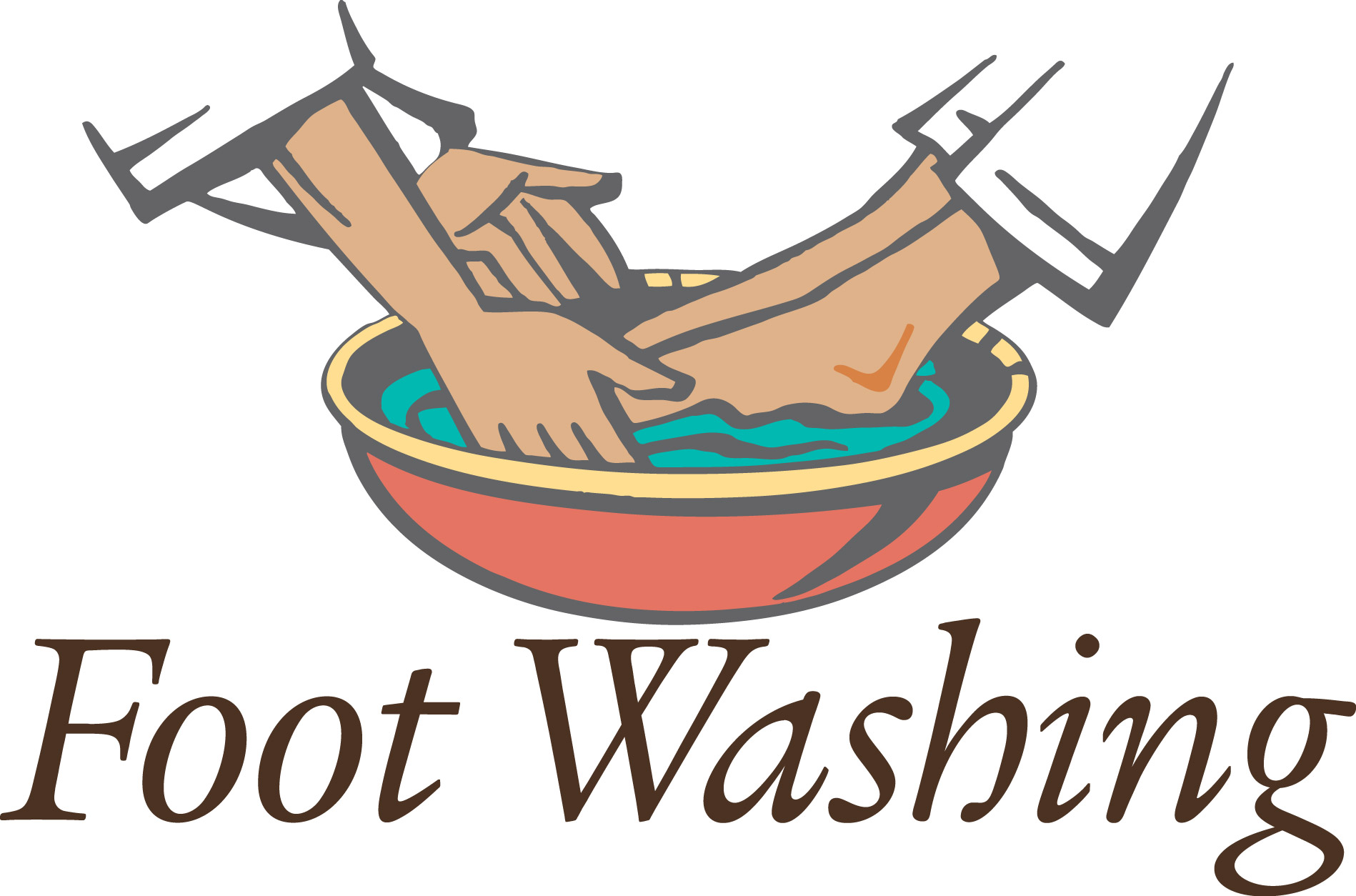 Washing Feet Clip Art.