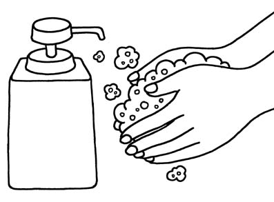 Washing hands clipart black and white 7 » Clipart Station.
