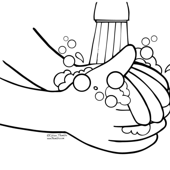 Wash Hands Clip Art Black And White Clipart, Clip Art Black.
