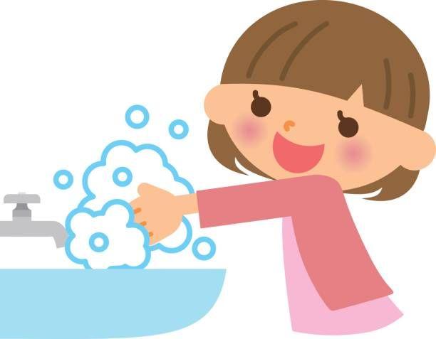Children to hand washing..