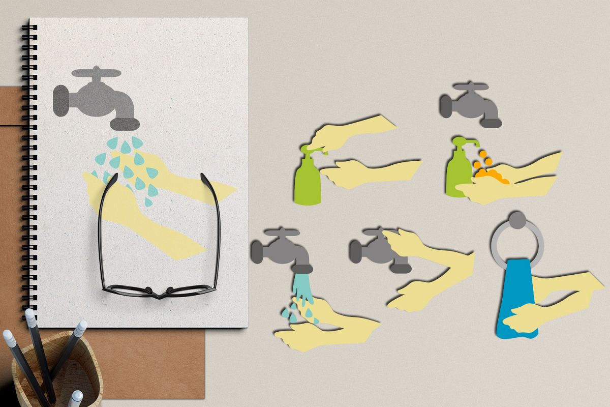washing hands Wash your hands clipart step by how to wash.