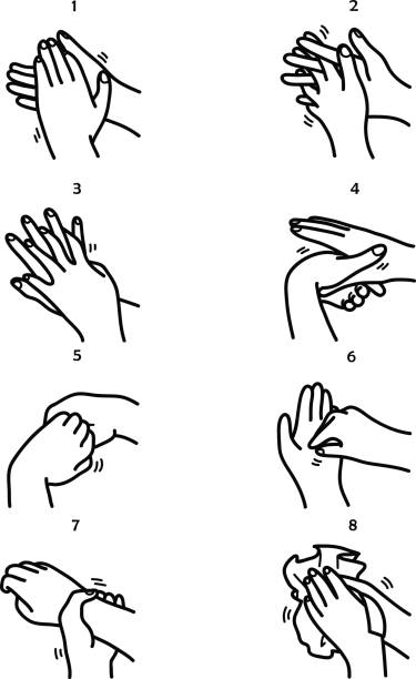 541 Washing Hands free clipart.