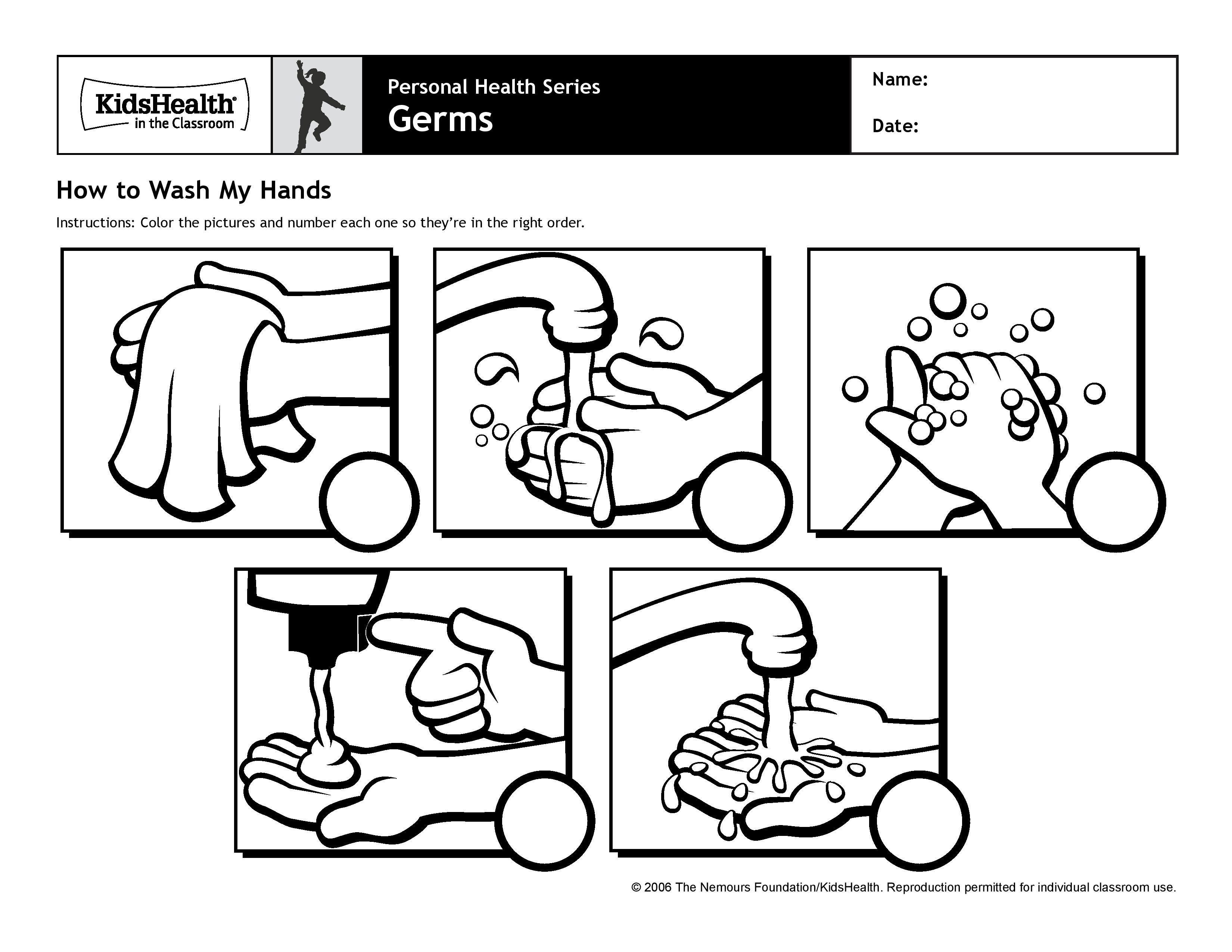 Washing Hands Worksheets Printable in 2019.