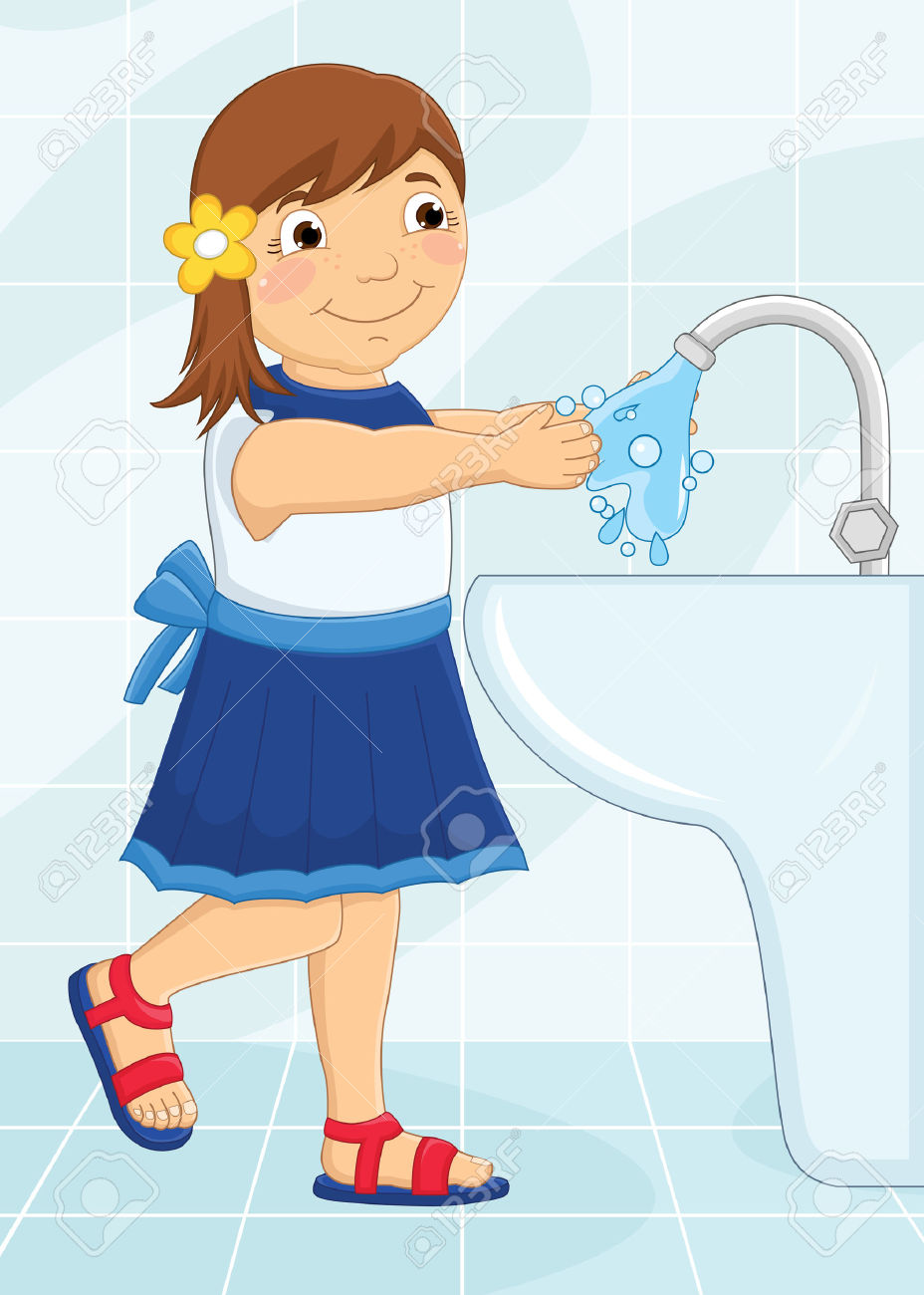 Washing hands with soap clipart 4 » Clipart Station.