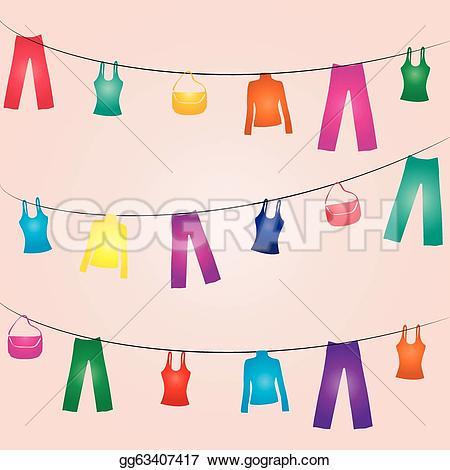 Clothes Line Clip Art.