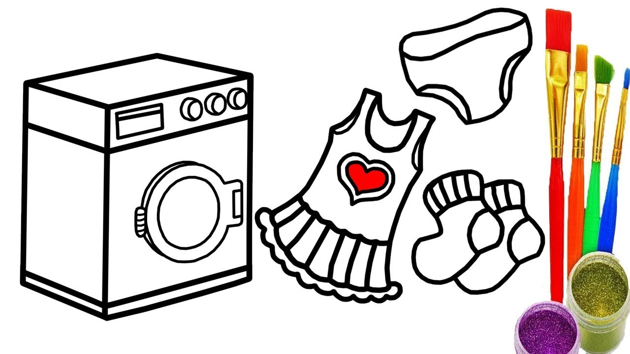 The best free Washing machine drawing images. Download from.