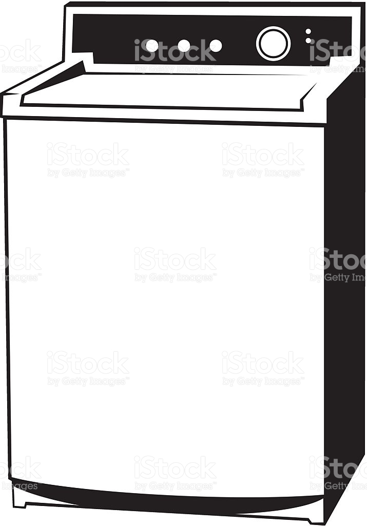 Washing machine clipart black and white 1 » Clipart Station.