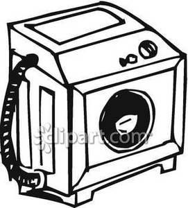 Black And White Washing Machine Clipart#1909953.