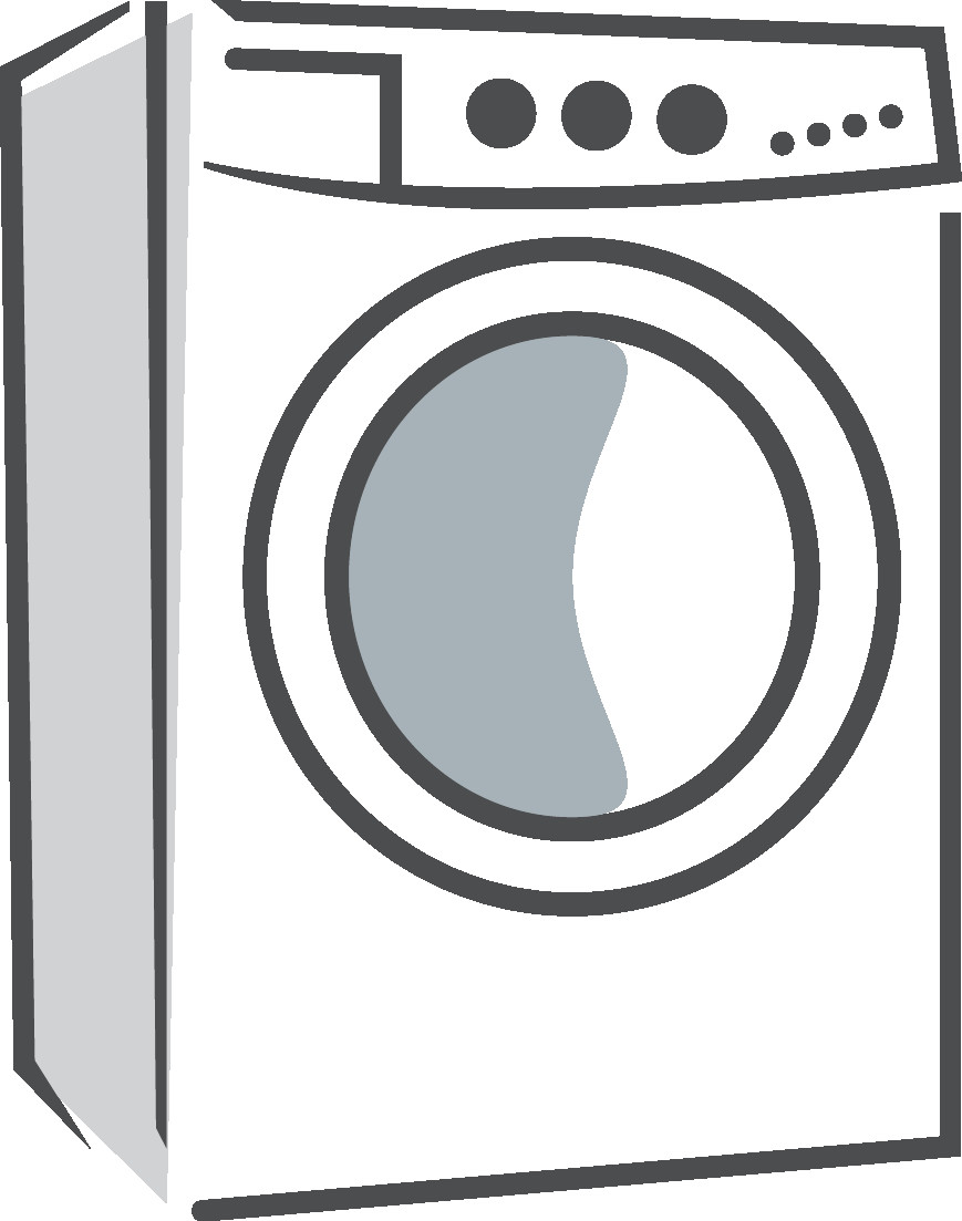613 Washing Machine free clipart.