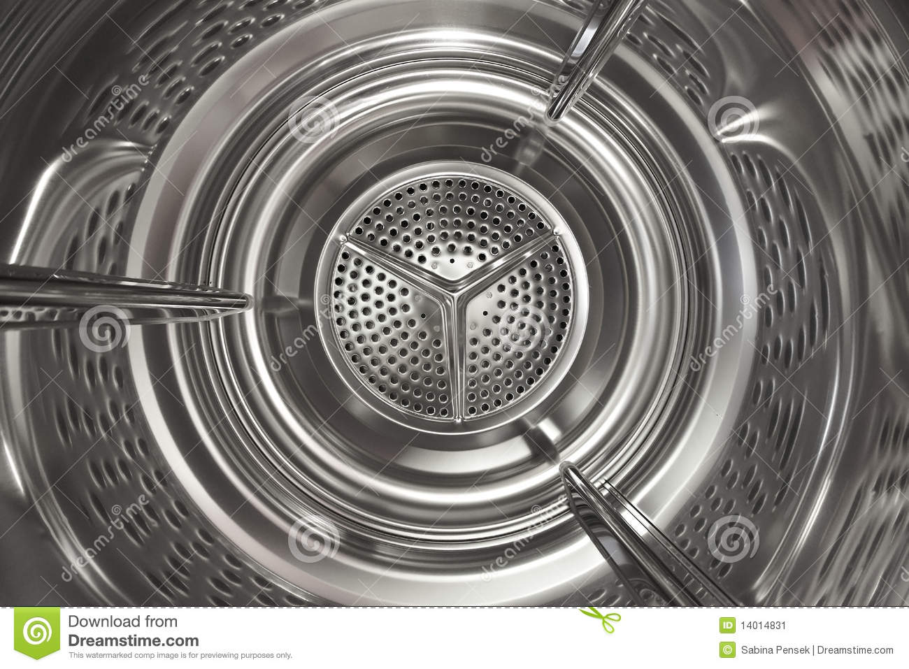 Washing Machine Steel Drum Stock Image.