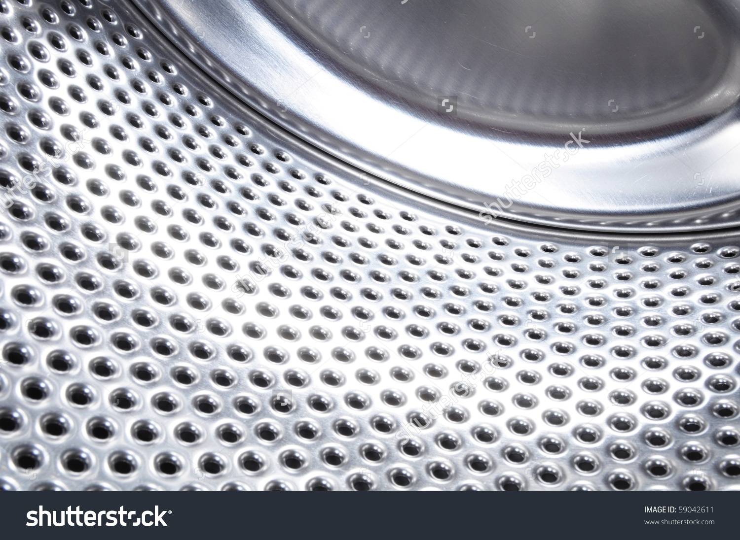Washing Machine Drum Background Copyspace Showing Stock Photo.