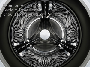 Stock Photography Image of a Washing Machine Drum..
