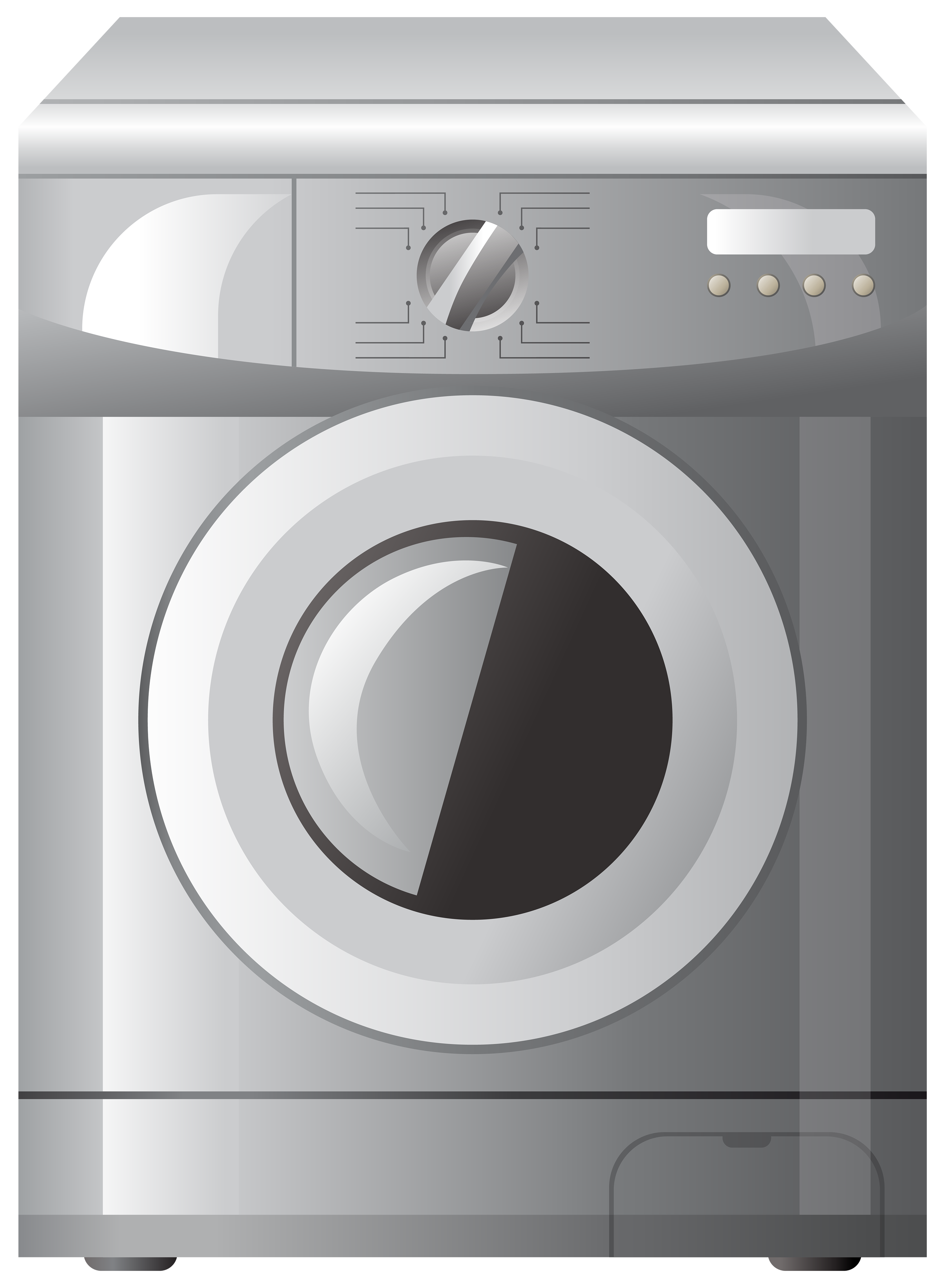 Grey Washing Machine PNG Clipart.