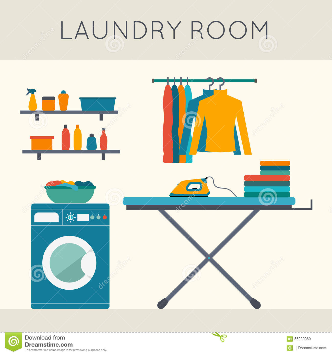 Laundry Room Clipart Free.