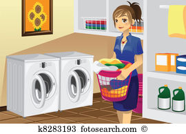 Laundry room Clipart Vector Graphics. 811 laundry room EPS clip.