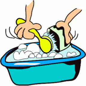 Washing Up Clipart.