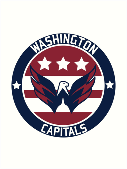 \'Washington Capitals Logo\' Art Print by DarienBecker.