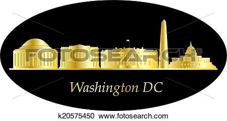 Clipart of washington dc city skyline k20575450.