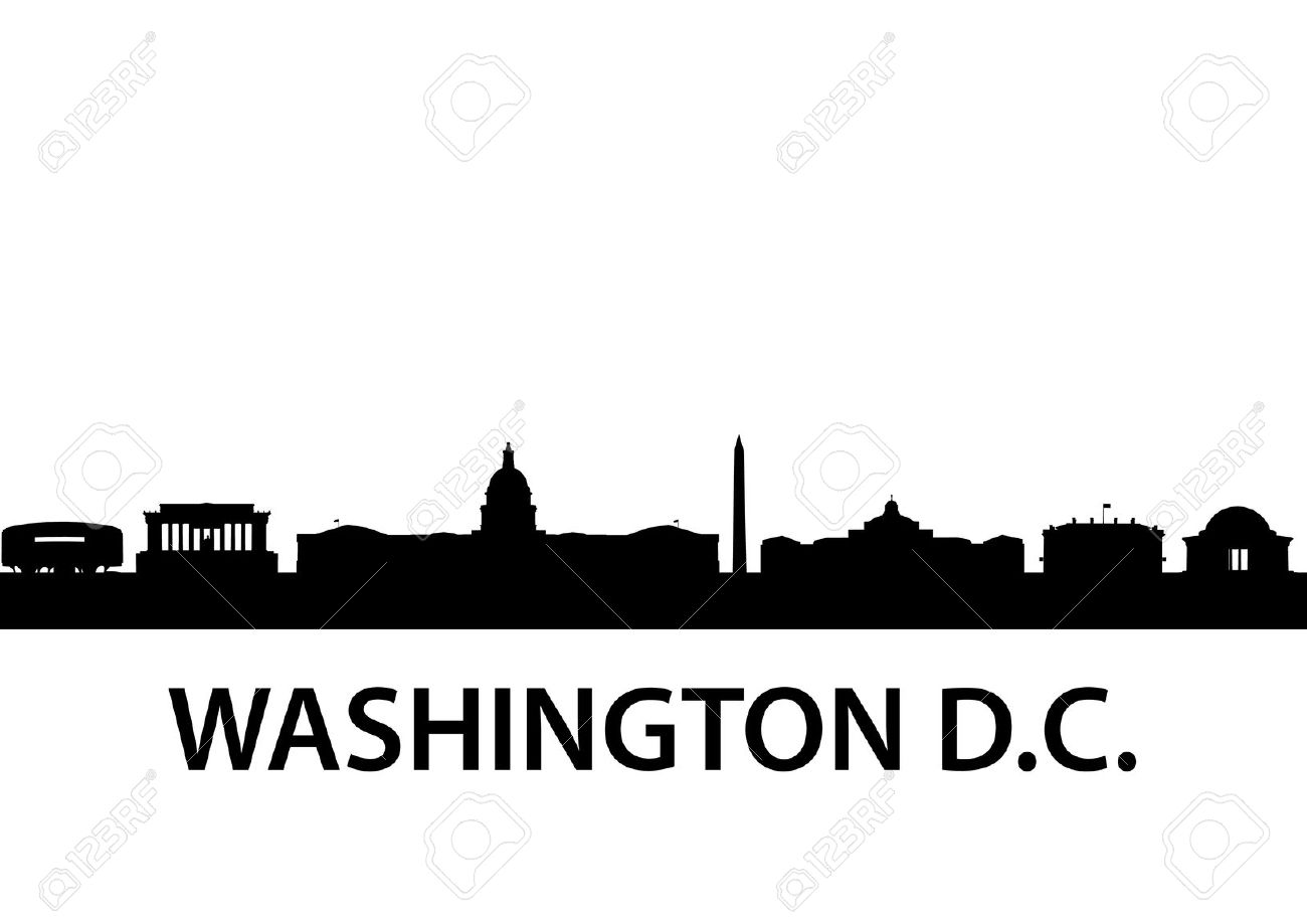 Washington dc skyline clipart.