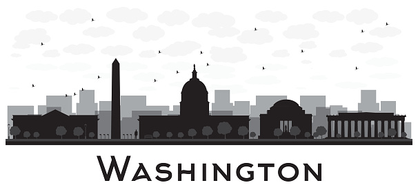 Washington dc clipart black and white.
