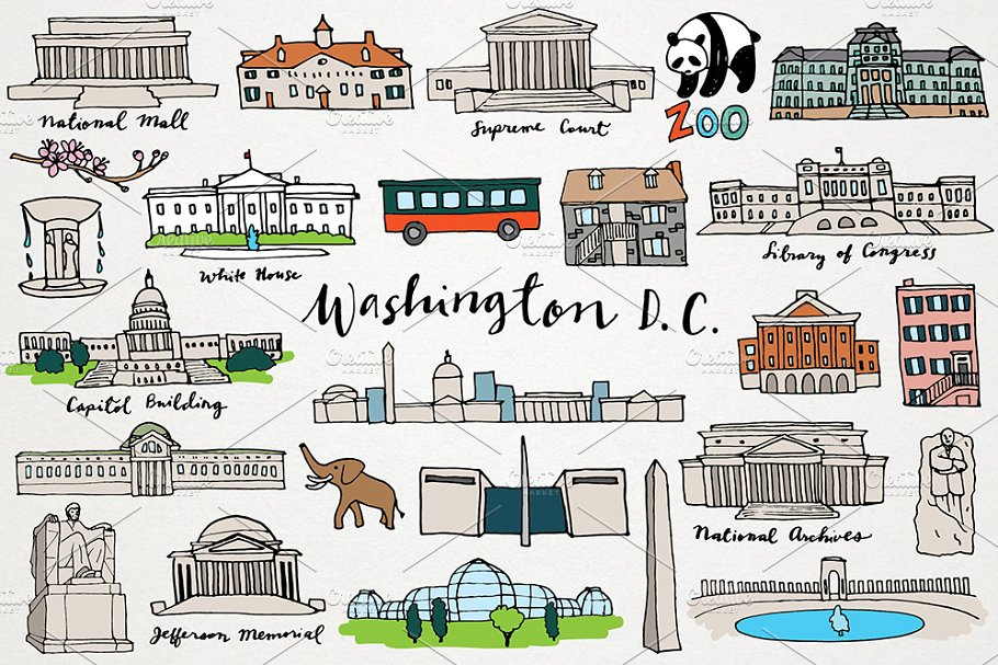 Washington DC Clipart.
