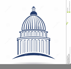 Capitol Building Washington Dc Free Clipart.