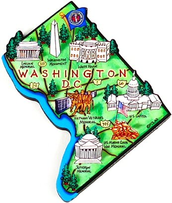Amazon.com: Washington D.C. Map Magnet, Washington D.C..