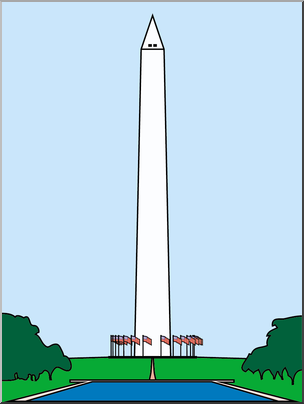 Clip Art: Washington Monument Color I abcteach.com.
