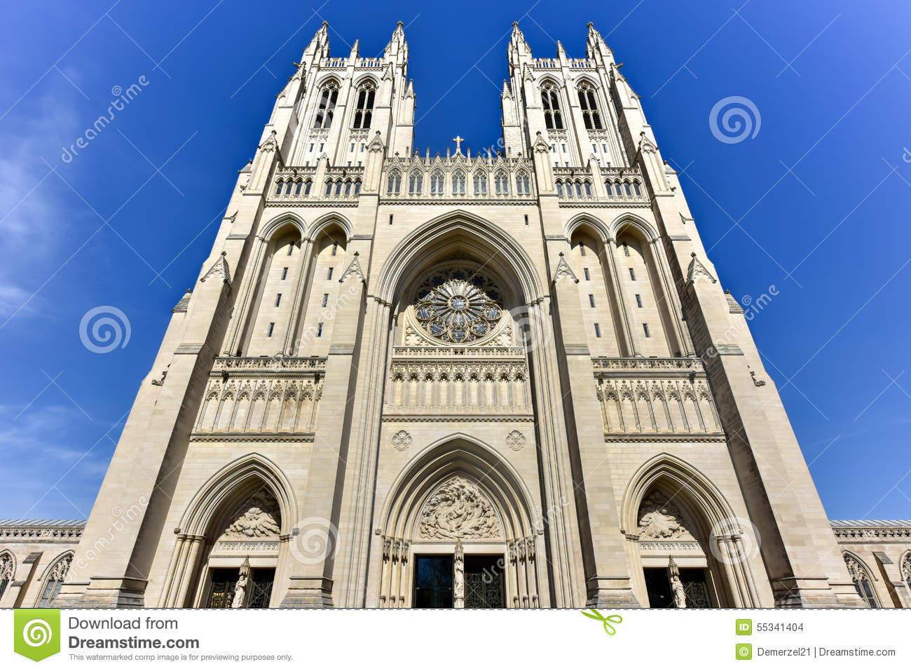 National Cathedral, Washington DC, United States Stock Photo.