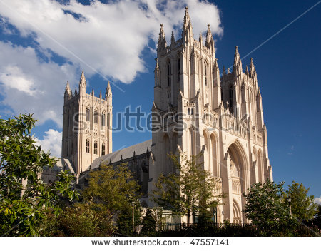 Washington National Cathedral Stock Photos, Royalty.