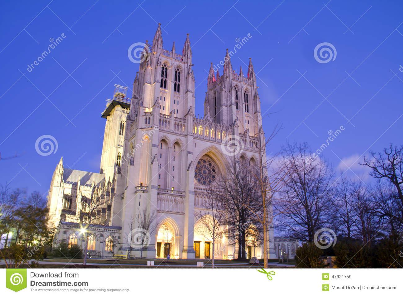 Washington National Cathedral Stock Photo.